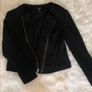 Black Blazer Jacket w/ Gold Zipper